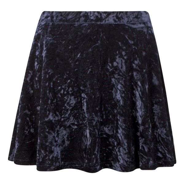 Alaya Navy Velvet Skater Skirt (30 AUD) ❤ liked on Polyvore featuring skirts, bottoms, velvet skater skirt, navy skater skirt, flared skirt, blue skirt and velvet circle skirt