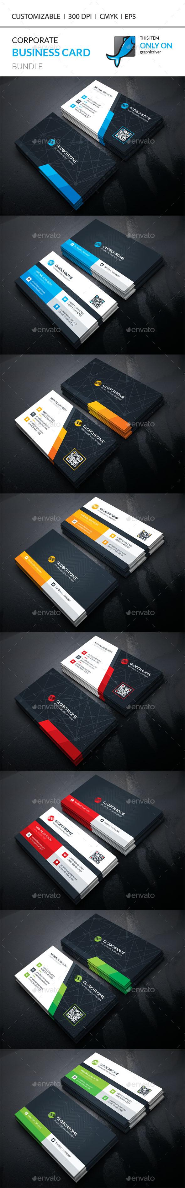 2 corporate business card templates vector eps ai illustrator