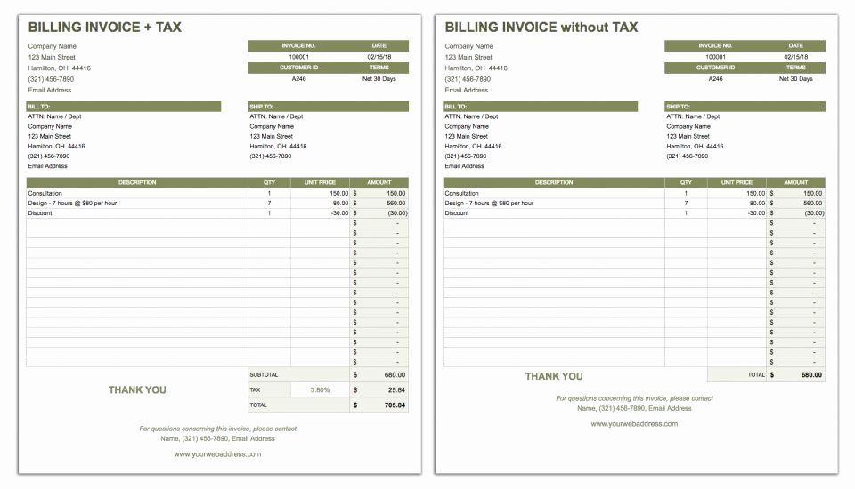 Google Sheet Invoice Template Fresh Free Google Docs Invoice Templates Invoice Template Smartsheet Estimate Template