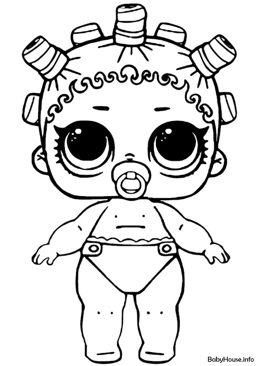 Lil Cosmic Queen High Quality Free Coloring From The Category L O L Lil Sisters More Printable Pictu Baby Coloring Pages Coloring Pages Cool Coloring Pages