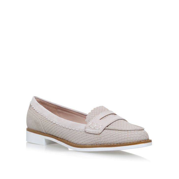Noah Nude Flat Loafer Shoes By Miss KG | Kurt Geiger
