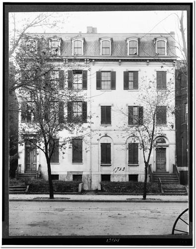 Home of Jefferson Davis, at 1723 G. Street, Washington, D.C. Photo Print