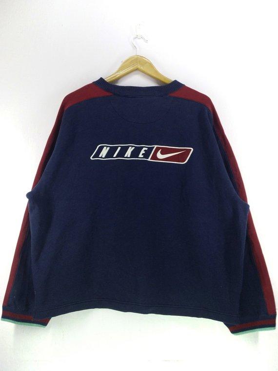 238a80cec9083 Vintage 90's Nike Swoosh Back Big Logo Embroidery Sweatshirt Nike ...