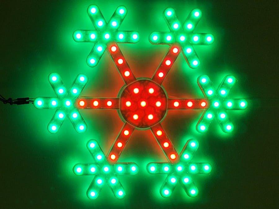 Rgb Led Snowflake With Arduino Uno Christmas Projects Arduino Projects Diy Arduino Projects