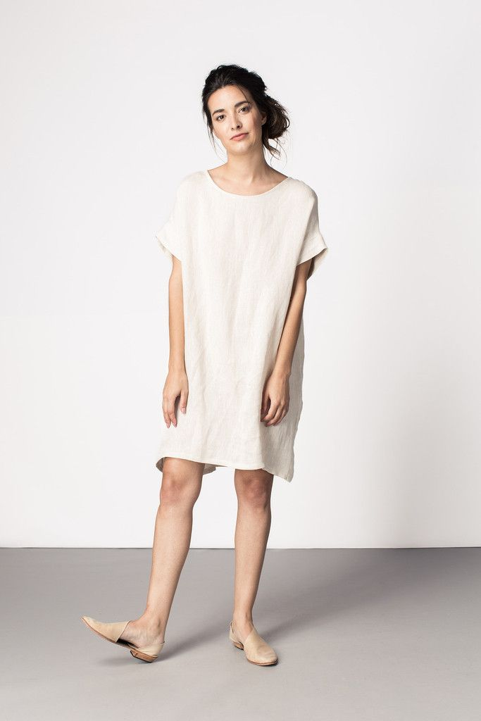 White tunic dress - straight cut, minimal and comfy