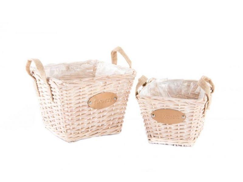 #cesta de #mimbre con #asa https://www.catayhome.es ...
