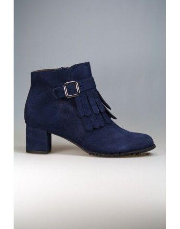 botines de la marca daniela mujer couleur azul marino con con marino flecos o 6495aa