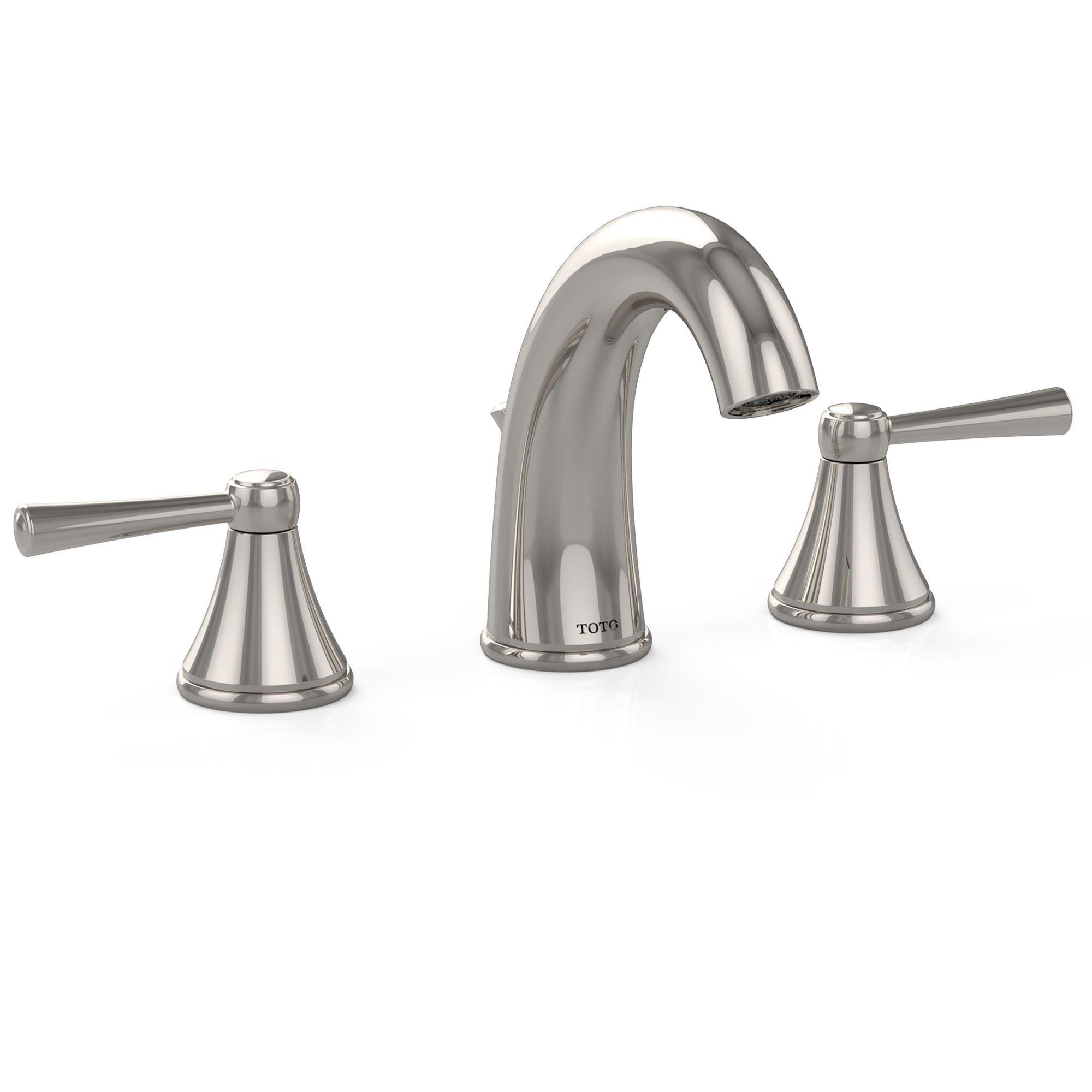 Brushed Nickel Sink Faucet Waterfall Bathroom Mixer Tap Deck