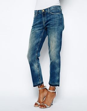Image 1 of Current/Elliott Cropped Straight Leg Jeans