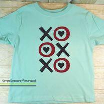 XOXO Toddler Girls Valentineu0027s Day Shirt With Glitter