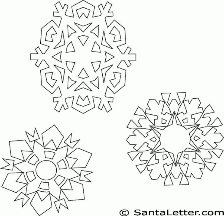 Free printable Snowflake adult coloring page online