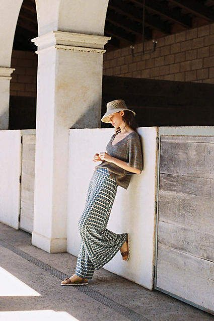 b6cbe761b82 Anthropologie Farm Rio for Knit Wide-Leg Pants in 2019 | Products ...