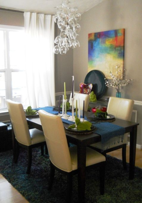 furniturecool small spaces dining rooms interiorsmalldiningroominterior buffet. Small Dining Room. Love The Bright Art And Wine Glass Chandelier. Furniturecool Spaces Rooms Interiorsmalldiningroominterior Buffet L