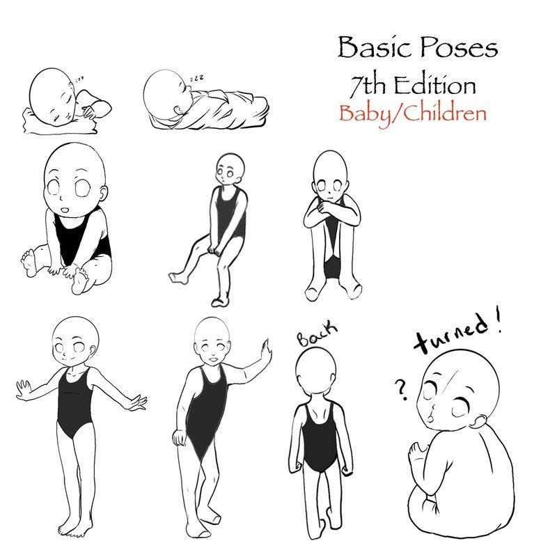 Reference Poses 7 By Darkflower8923 On Deviantart Anime Poses Reference Baby Drawing Toddler Drawing