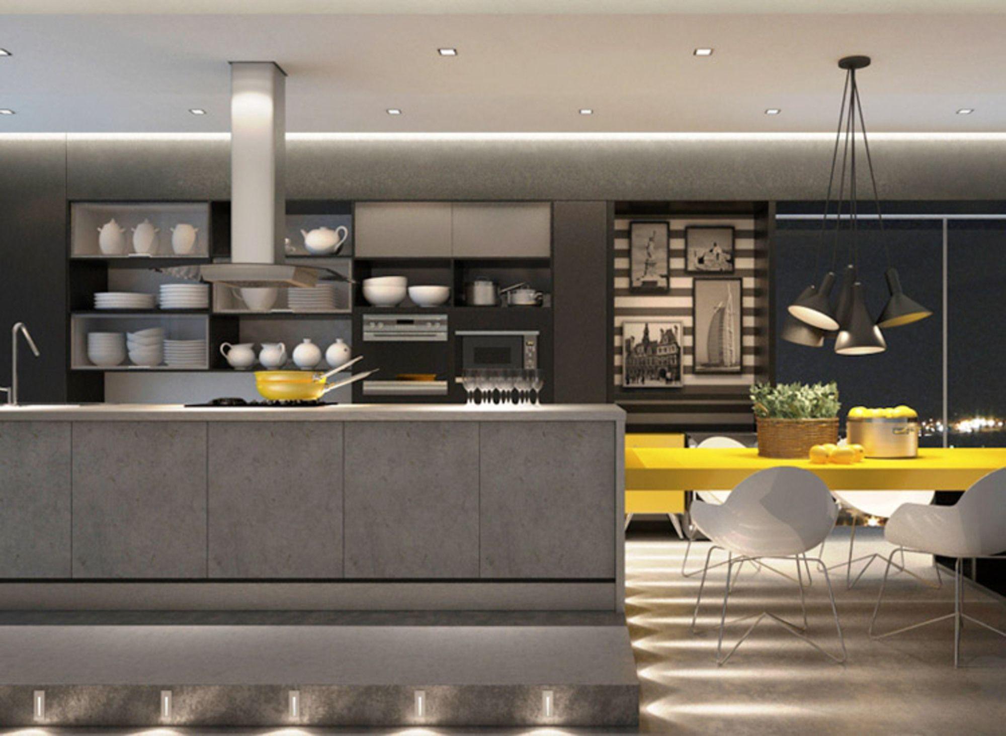 Cozinha De Concreto Na Decoração. Kitchen DesignModern KitchensInterior  DesignBlogValentinaGray KitchensConcrete KitchenArquiteturaIdeas