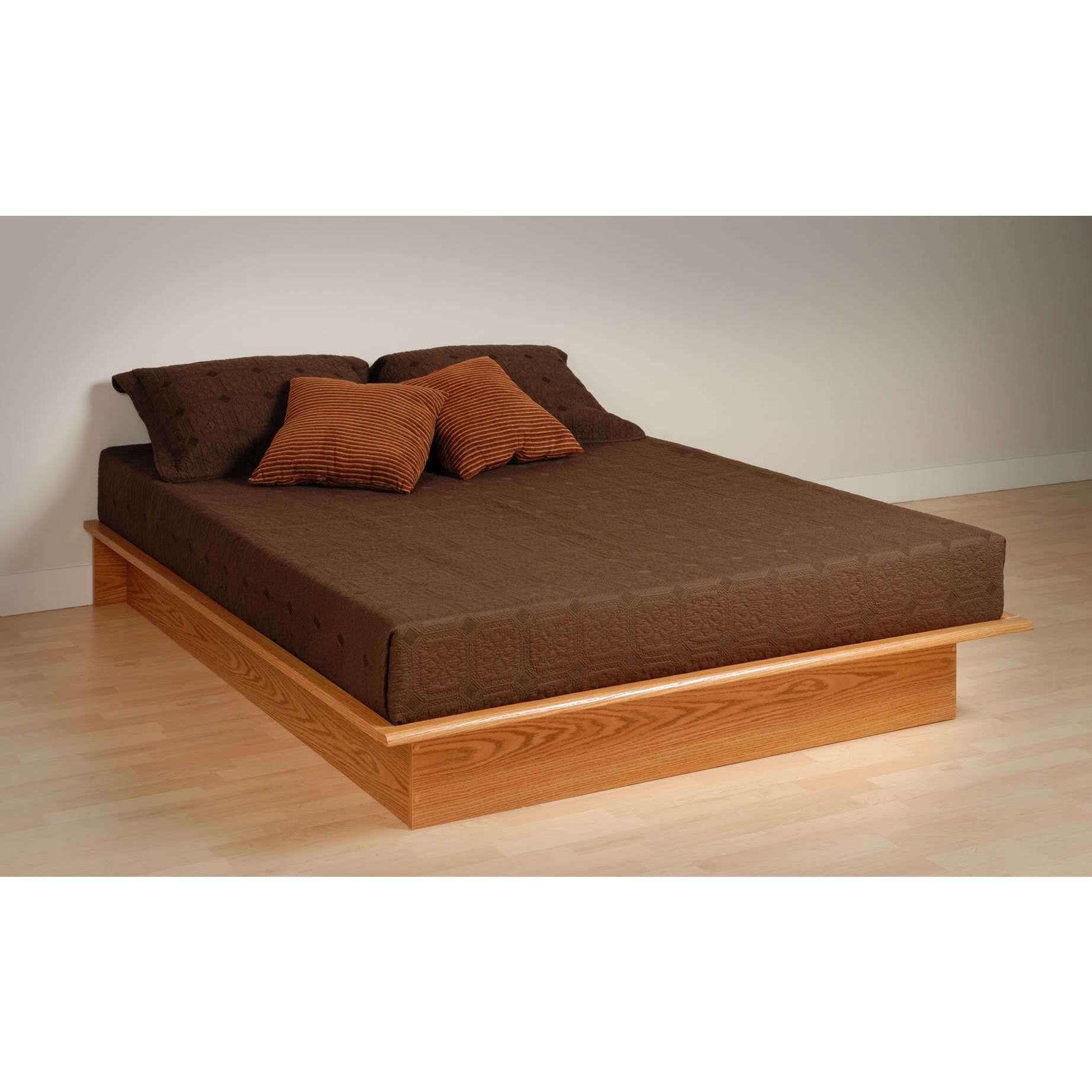 Eliminate the need for a box spring with this Oak Platform