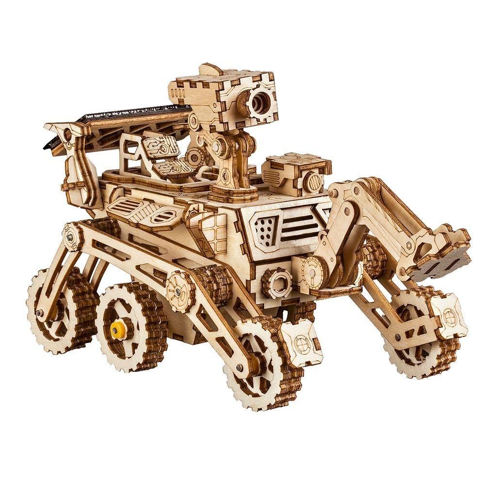 Robotime Moon Buggy 3D Wooden Puzzle DIY Model Buiding Kits Solar Energy Toy
