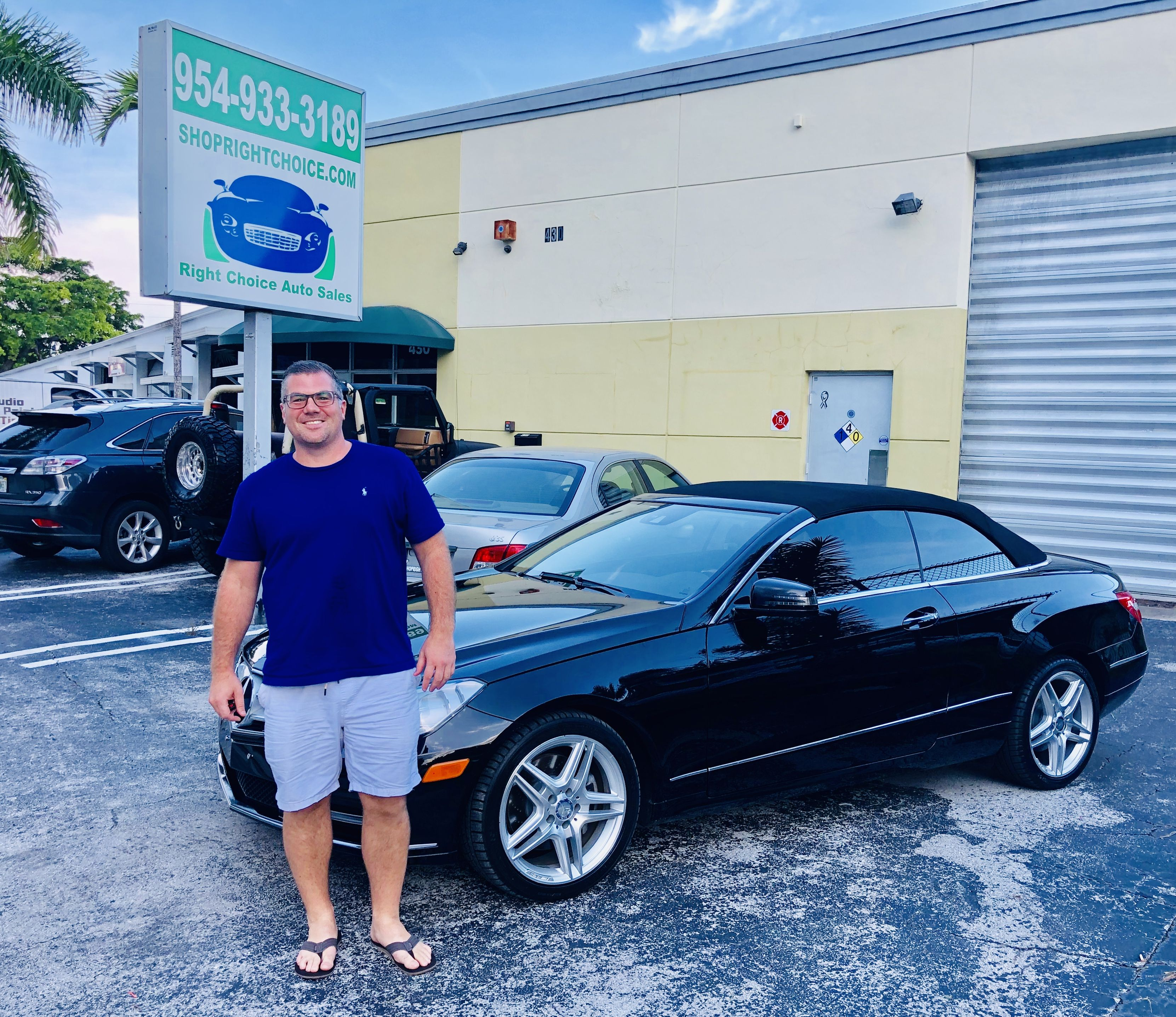 Lance took home this awesome 2013 Mercedes-Benz E350 Convertible with over $9,700 in options and only 36k miles!  Right Choice Auto Sales in Pompano Beach, FL has the best deals in the country on quality, preowned luxury cars!    #mercedesbenz #E350 #E350cabriolet #happycustomer #mercedesforsale #carshopping #carsforsale #usedcardeals #drivehappy #floridacars #mercedesexpert #mercedesshowroom #blackbenz #southfloridacars #luxurycars #luxcar #luxurylife #cardeals #mercedeslife