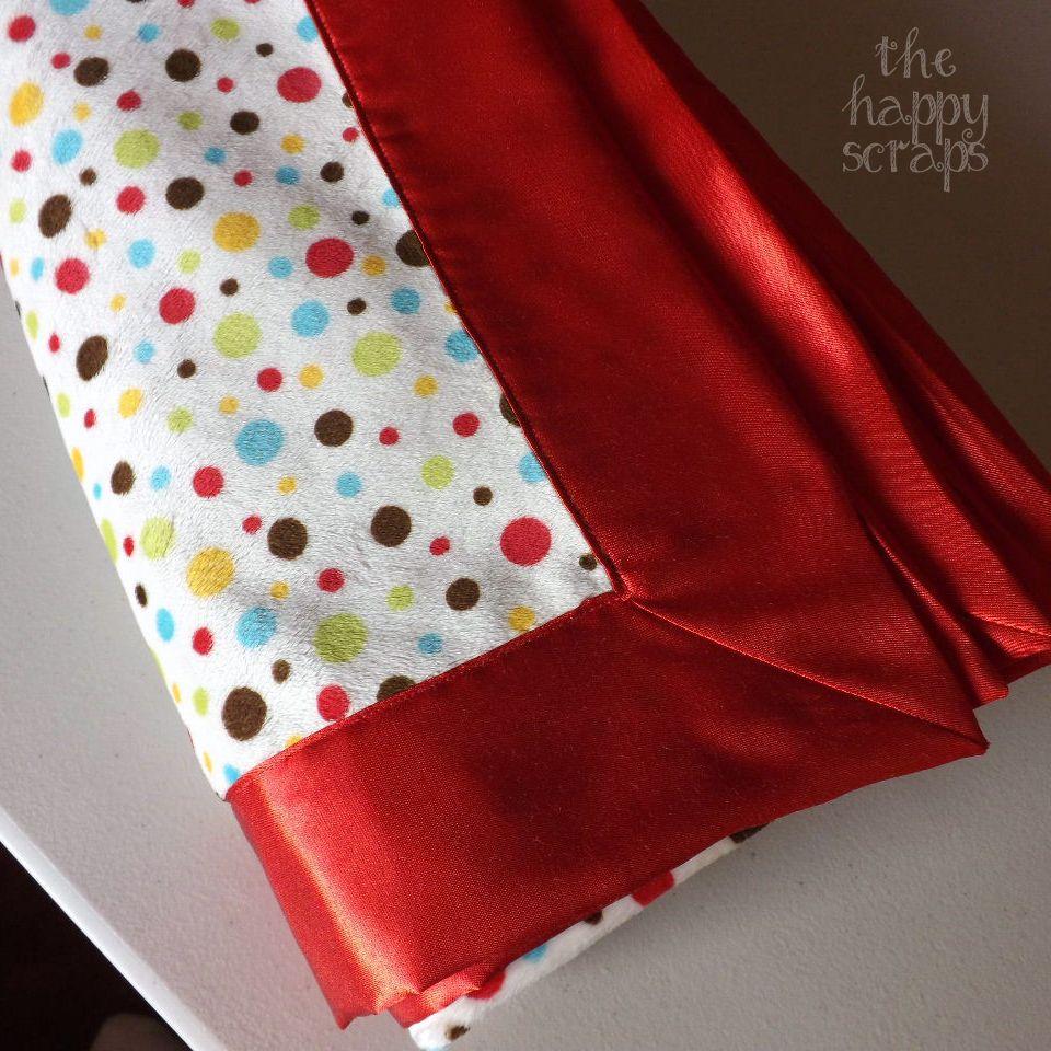 Self binding baby blanket crafty pinterest blanket