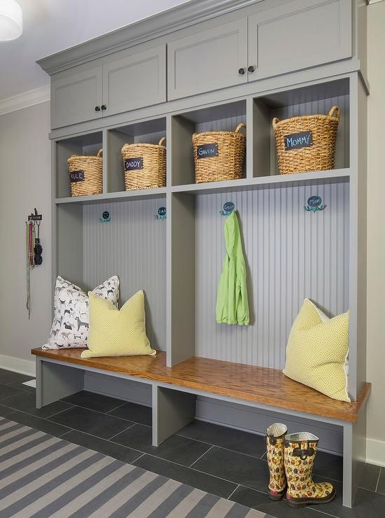 Built in paint color is Benjamin Moore Chelsea Gray All-star paint