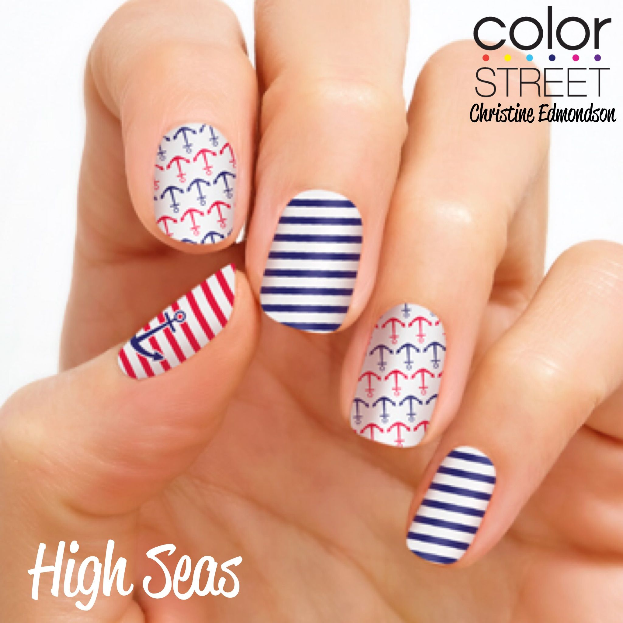 High Seas 100 Nail Polish Strips That Require No Tools No Heat No Drying Time No Mess Get Gorgeous Nails In 10 Minu Nails Stick On Nails Nautical Nails