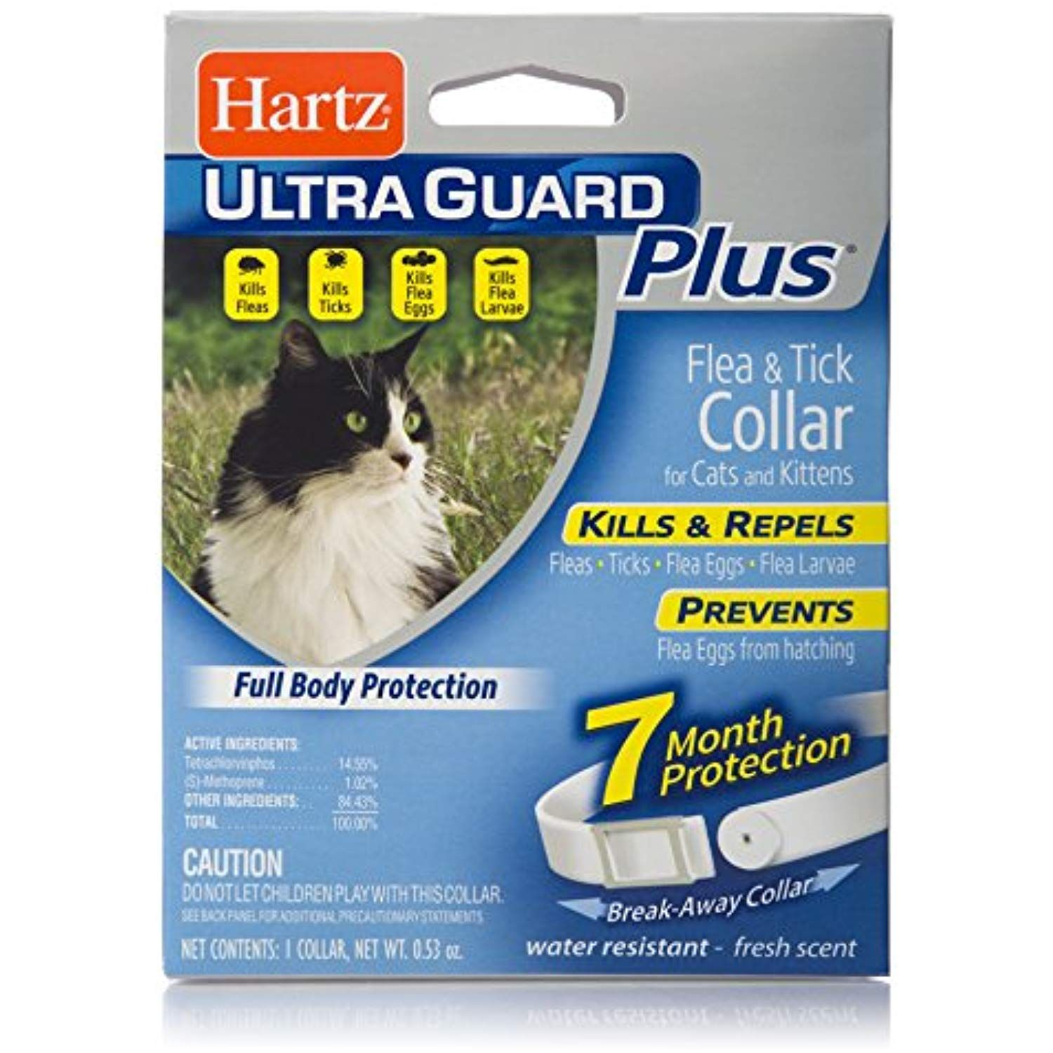 Hartz Ultraguard Plus Water Resistant 7 Month Protection Breakaway Flea And Tick Collar For Cats Check This Awesome Prod Flea And Tick Fleas Cats And Kittens