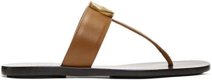 1552b35708a Gucci Tan GG Marmont Sandals