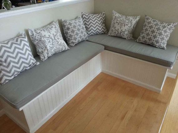 Kitchen Bench Cushions Roll Towels Custom Cushion Sewn Banquette Seat With Cording Window Chair Pad