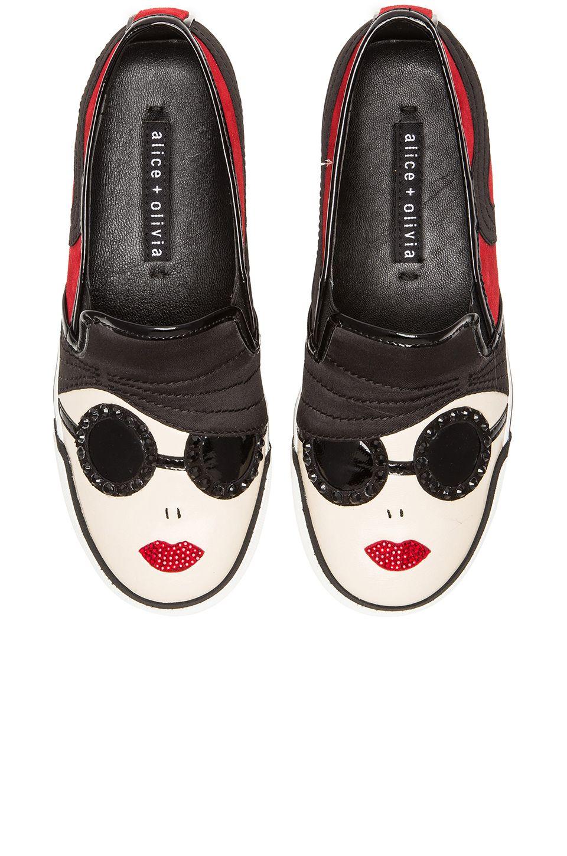 c622cfb219f8 Alice + Olivia Stacey Sneaker in Scarlet   Black