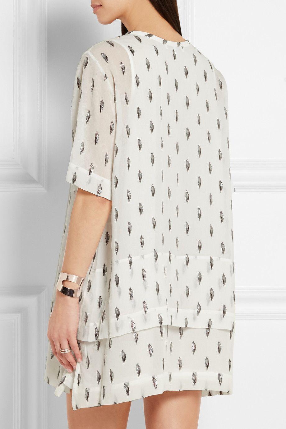 IRO | Janet fil coupé silk-blend georgette mini dress | NET-A-