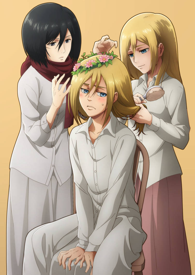 Armin, Historia, and Mikasa by aaf6 on DeviantArt