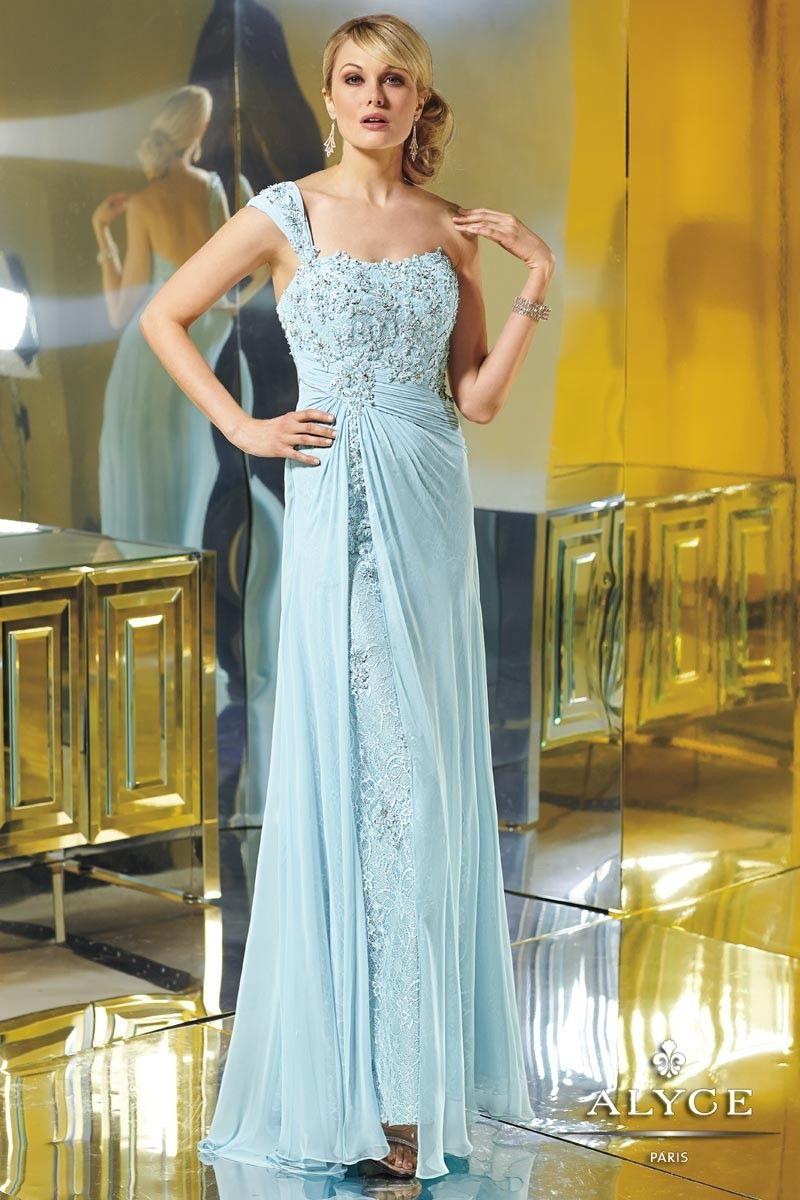 Grecian Style Soft Blue Evening Dresses | dress | Pinterest | Blue ...