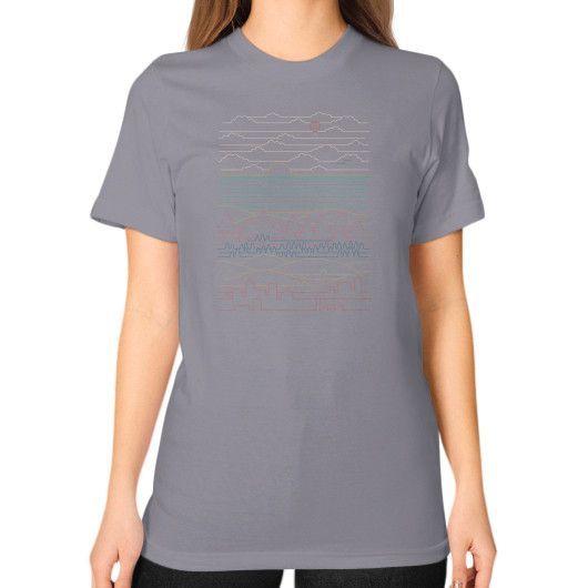 Linear Landscape Unisex T-Shirt (on woman)