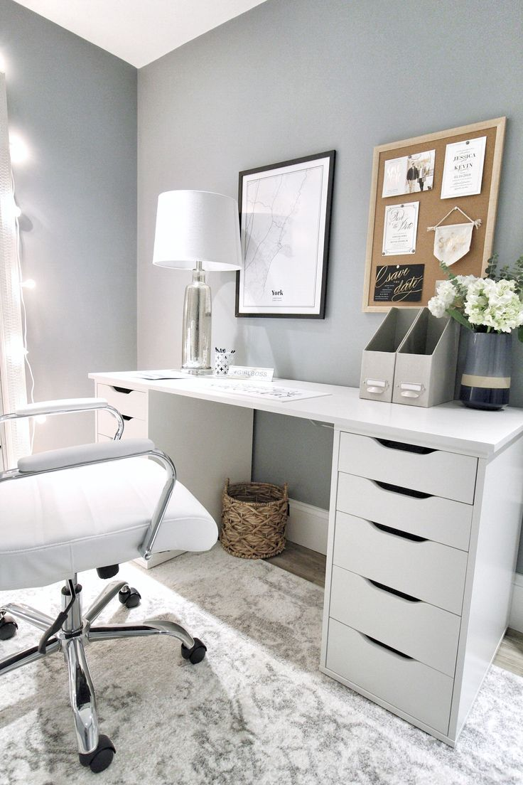 Ikea Hack But With Wood Top Not White Home Office Design Ikea Alex Desk Home Office Space