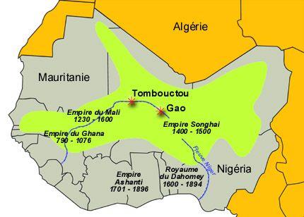 Carte Afrique Gao.Carte Des Royaumes Et Empires D Afrique Avant La
