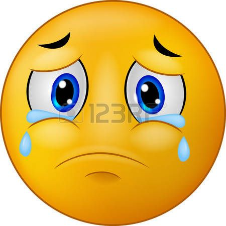 Faccine tristi sad smiley emoticon cartone animato vettoriali