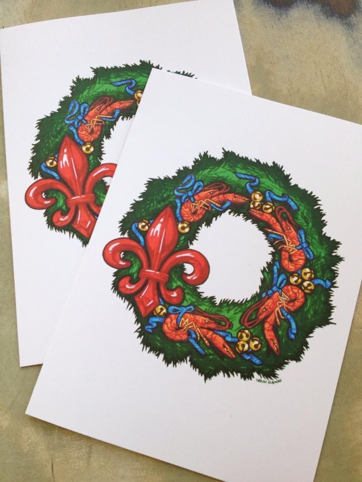 Fleurty Girl - Everything New Orleans - Crawfish Wreath Holiday ...