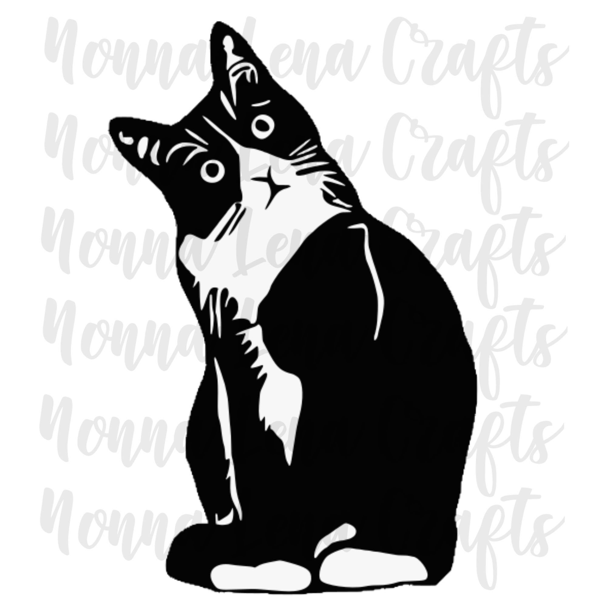 35+ Black And White Cat Clipart Free