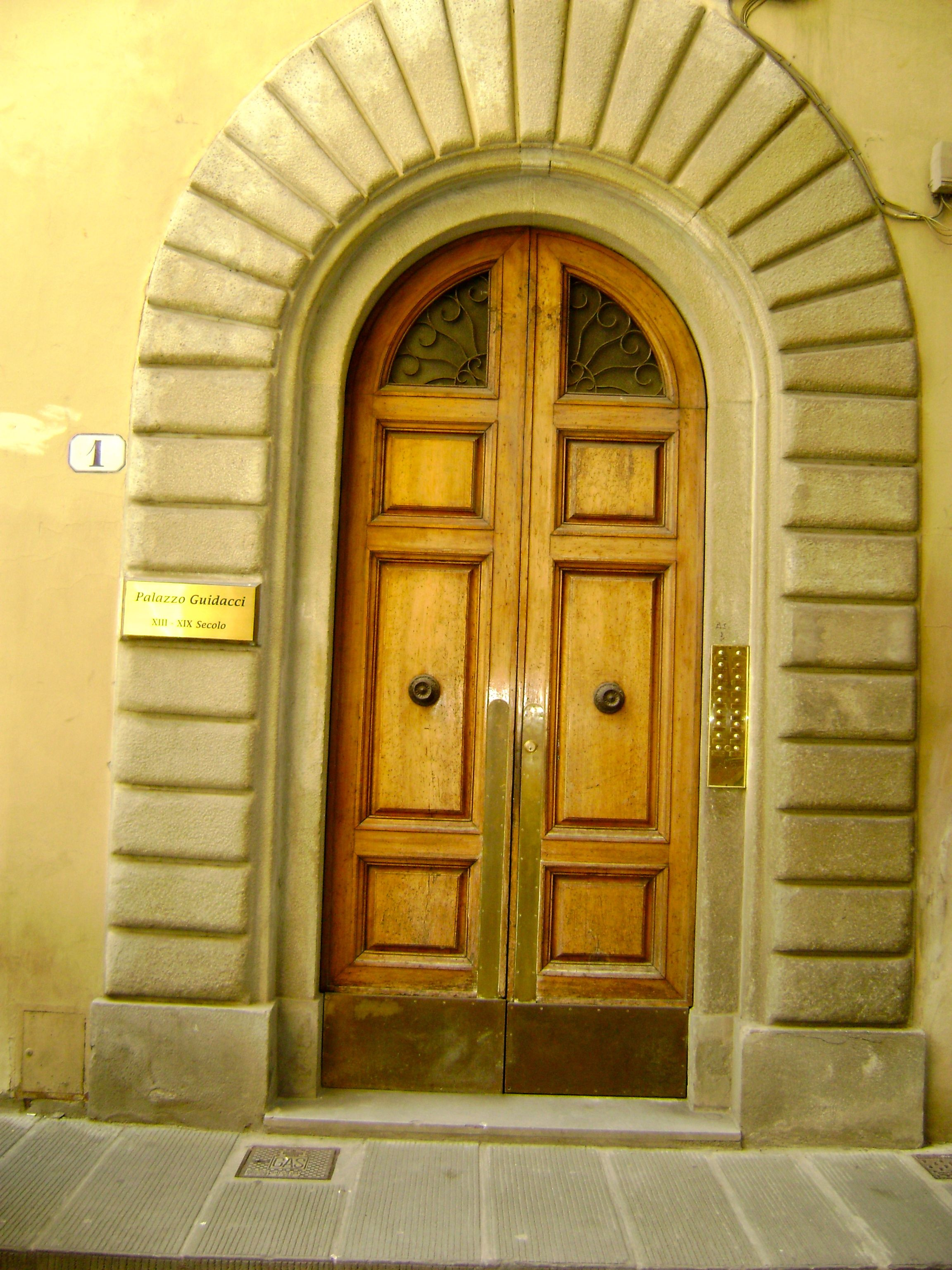 The doors to my Apartment in Florence Italy
