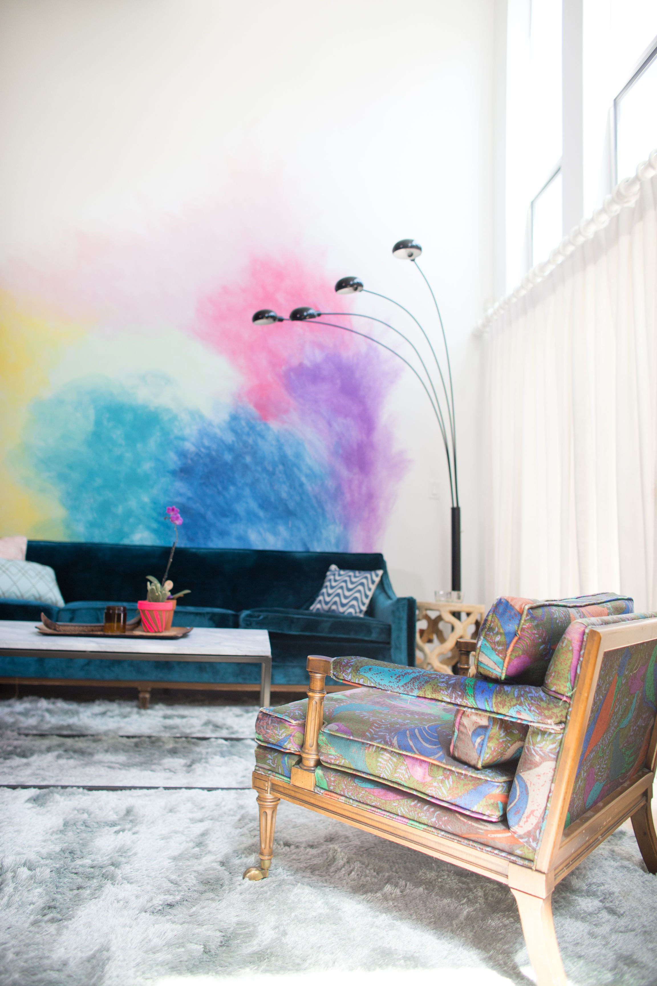 Diy Watercolor Mural Wall Bedroom Art Wall Murals Watercolor Walls
