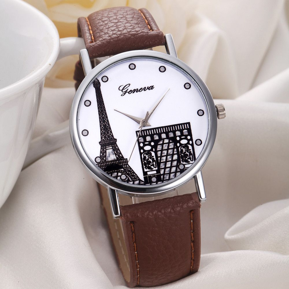 Paris Watch in Brown, White or Black, One Size