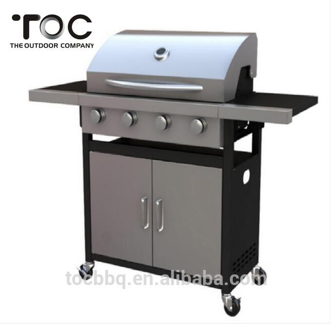 Classic 4 Burners Outdoor Gas Barbecue Grill With Large Cooking