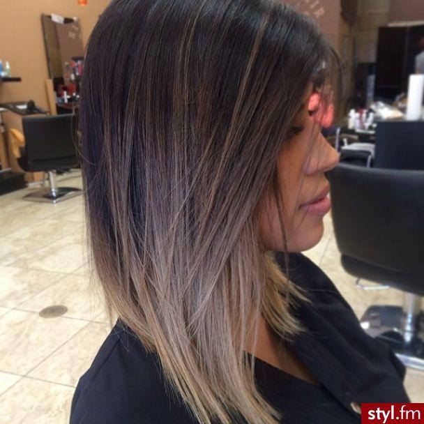 średnie Fryzury Sombre W 2019 Hair Hair Styles I Balayage Hair