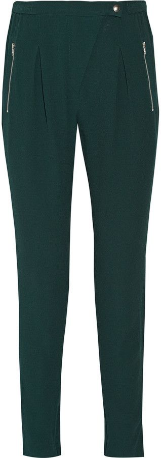 """Sandro Polina crepe straight-leg pants ($132.75) // as seen on Spencer Hastings, played by troian bellisario, in pretty little liars episode 7x02, """"bedlam."""""""
