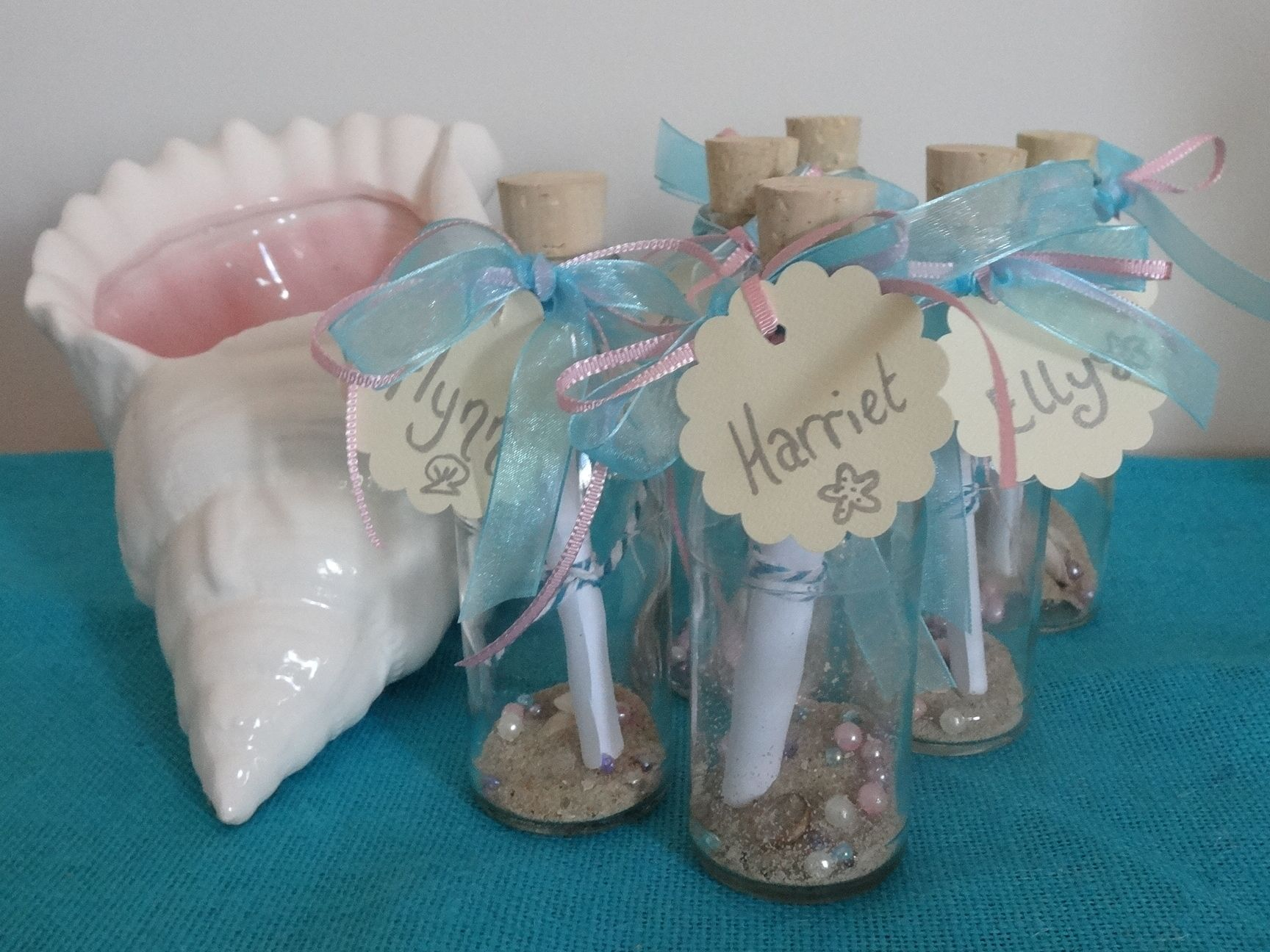 Message in a Bottle invitations for an Under the Sea Mermaid Party – Message in a Bottle Party Invitations
