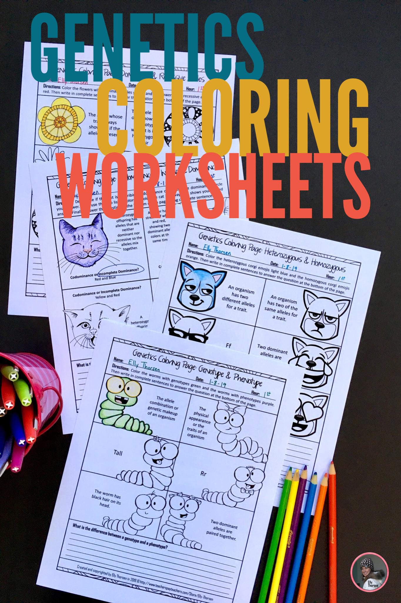 Genetics Coloring Worksheet Bundle Genetics Activities Middle School Science Resources Middle School Activities [ 2048 x 1364 Pixel ]
