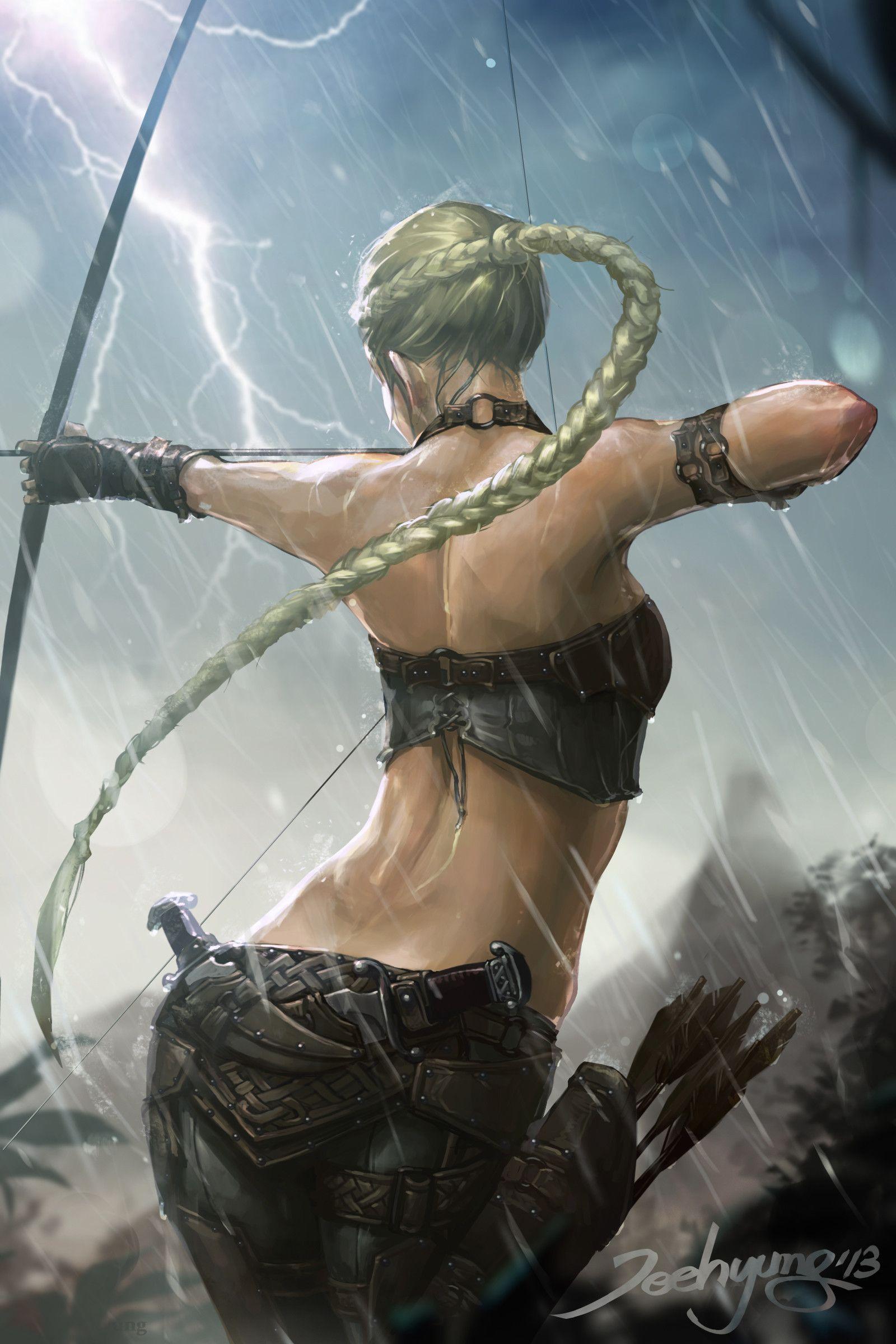Jeehyung Jeehyung Lee Fantasy Art Fantasy Women Fantasy Warrior