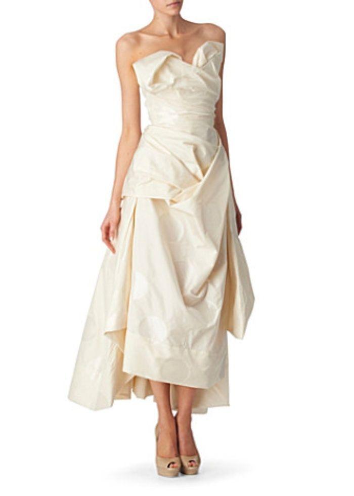 vivienne westwood bridal gown   Oversized dots dress   Wedding ...