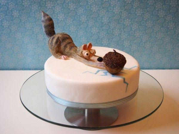 scrat fondant  ice age cake kids cake funny cake