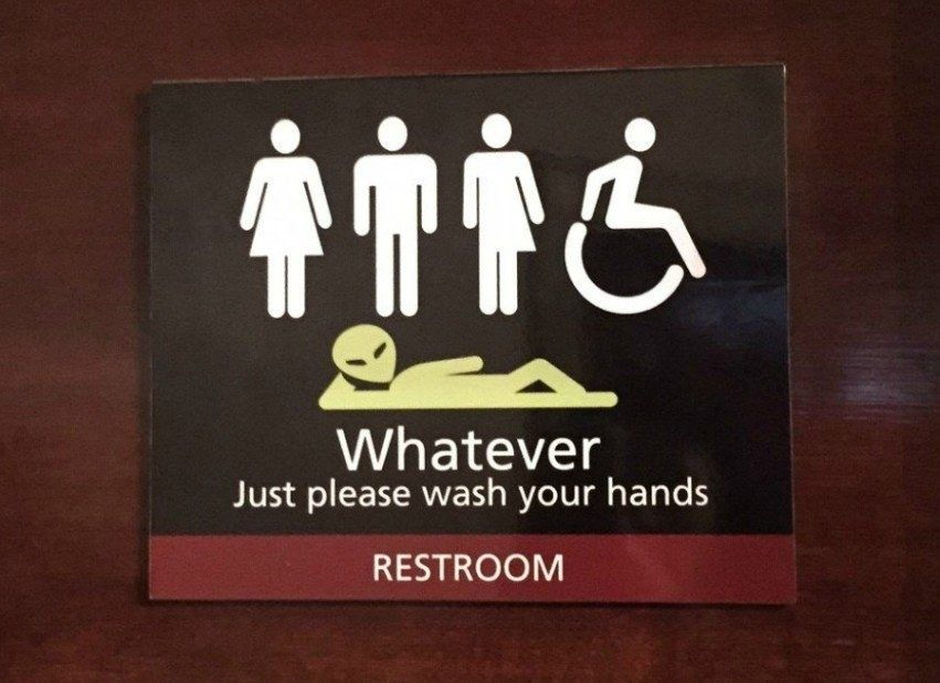 Literally Just A Bunch Of Next Level Gender Inclusive Bathroom Signs Bathroom Signs Gender Neutral Bathroom Signs Restroom Sign